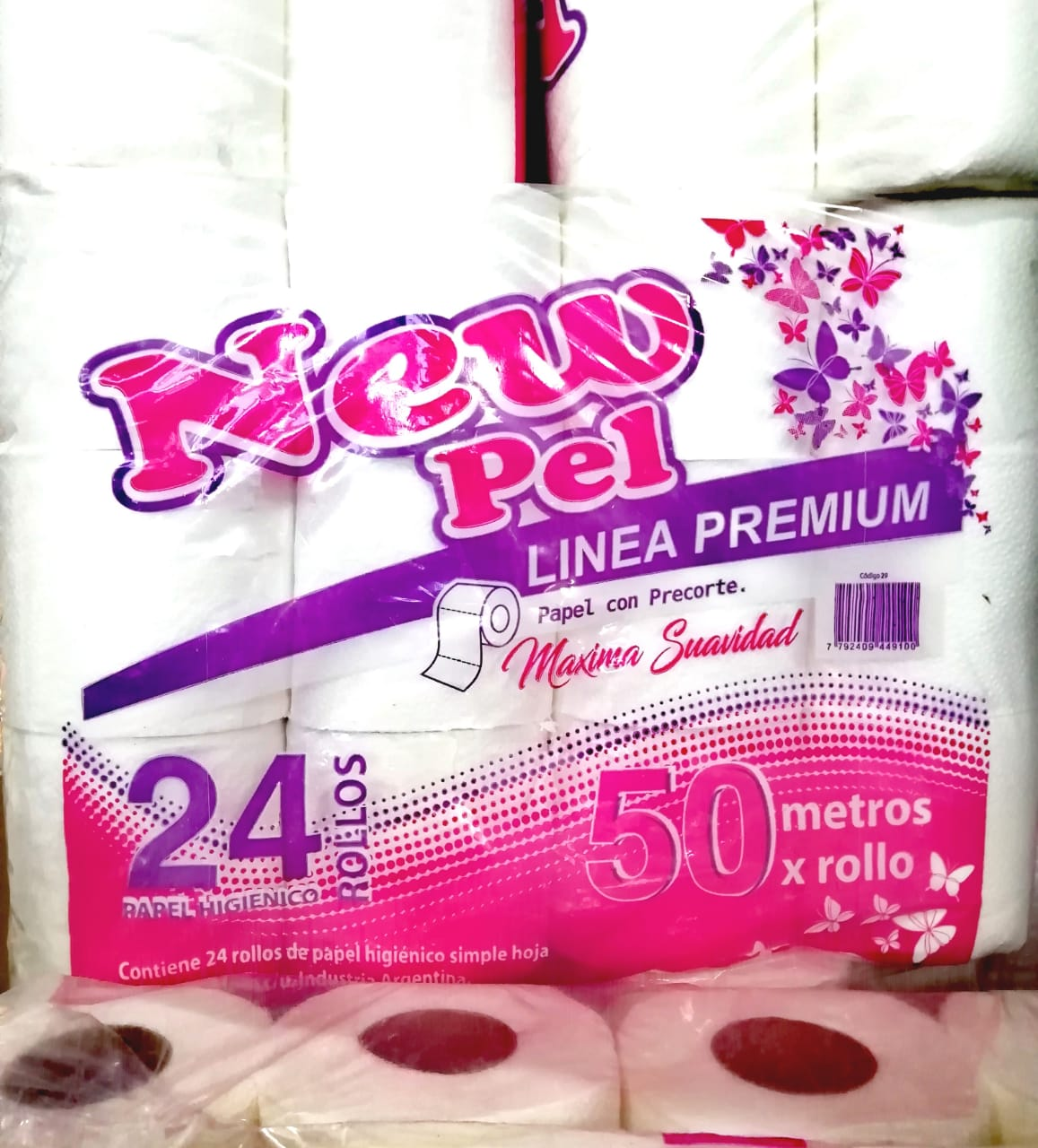 PAPEL HIGIENICO NEW 24X50MT S/H COD43
